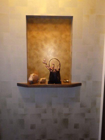 トイレ前廊下のニッチ【後】